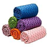Global Yoga Towel Mat Blanket 183x63cm Silicone Plate Mesh Bag
