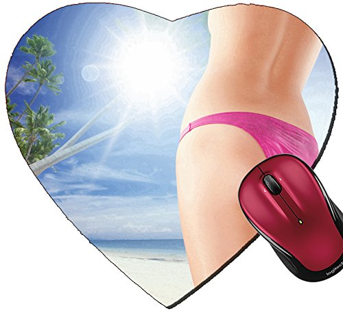 Liili Mousepad Heart Shaped Mouse Pads/Mat Close up view of nice smooth woman s legs on color back IMAGE ID - Shaped Nice Women