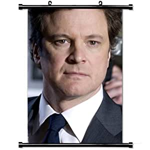 Home Decor Designer Poster with Colin Firth Actor Curly haired Brown eyed Man Jacket Wall Scroll Poster Fabric Painting 23.6 X 35.4 Inch (60cm X 90 cm)
