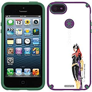 Speck iphone 4s Purple CandyShell Case with Batgirl Standing Watercolor Design by Coveroo