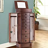 Giantex Armoire Jewelry Cabinet Box Storage Chest Wood - Best Reviews Guide