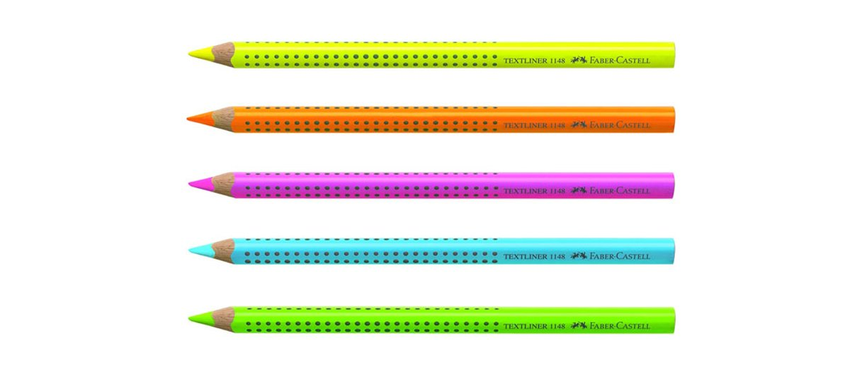 Faber-Castell 114828 Textmarker Jumbo Grip Neon Textliner rosa