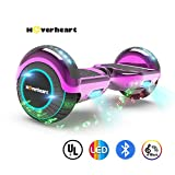 Hoverboard Two-Wheel Self Balancing Electric Scooter UL 2272 Certified, Metallic Chrome with Bluetooth Speaker and LED Light (Chrome Pink)