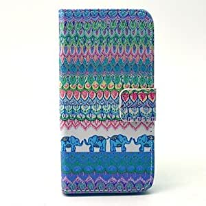 WQQ Cartoon Colored Drawing PU Leather Full Body Case with Kickstand and Card Slot for iPhone 5/5S