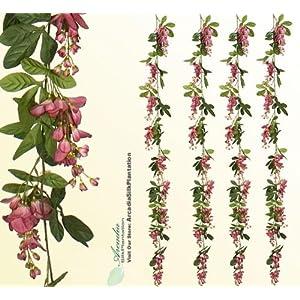 6' Artificial Wisteria Garlands (pack of 6) Silk Flowers _Mauve 36