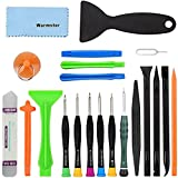 Warmstor 21 Pieces Premium Opening Pry Tool Screwdriver Set Repair Kit for iPhone XS Max/XS/XR/X/8/8 Plus/7/7 Plus/6S/6/6 Plus/5/5C/5S/4/4S, iPad Pro/Air/4/3/2/Mini, iPods and More