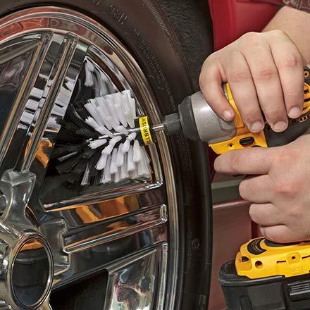 Brush Attachment for a Drill