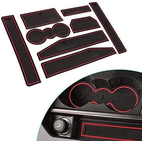 Car Door Gate Slot Pad,Car Door Groove Slot Storage Mats Cup Holder Pad Non-Slip Mats For Range Rover Evoque 2012~2015 Car Accessories
