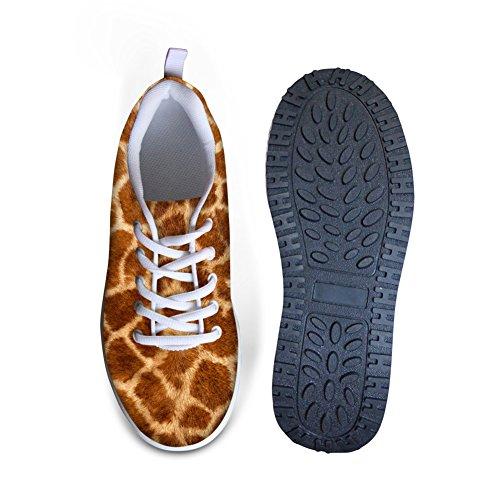 Per Te Disegni Creative Scarpe Da Donna Con Stampa Leopardo Delle Zeppe Scarpe Da Ginnastica Con Plateau Giallo L1