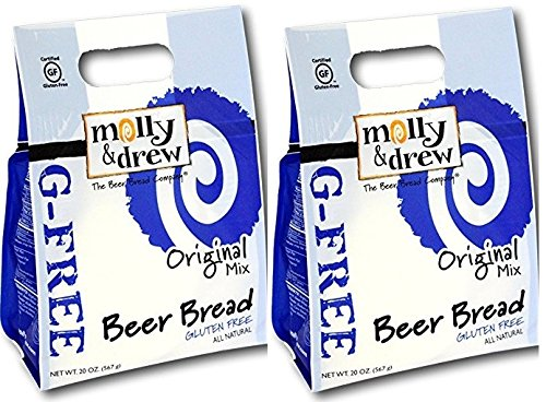 Molly & Drew All Natural Gluten-Free Beer Bread Mix (Pack of 2)