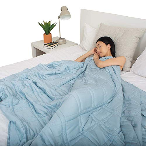 Pine&River Cooling Weighted Blanket - Perfect for Summer - | Chilled Bamboo- (60