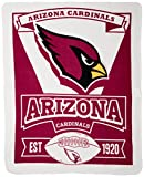 NFL Arizona Cardinals Marque Printed Fleece Throw, 50-inch by 60-inch