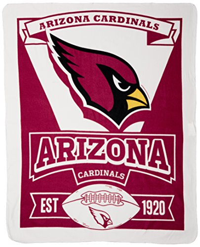 Cardinals Nfl - The Northwest Company 1NFL/03102/0080/AMZ NFL Arizona Cardinals Marque Printed Fleece Throw, 50-inch by 60-inch