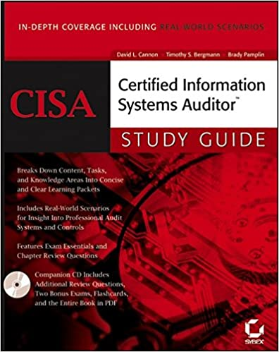 Cisa, certified information systems auditor (study guide.