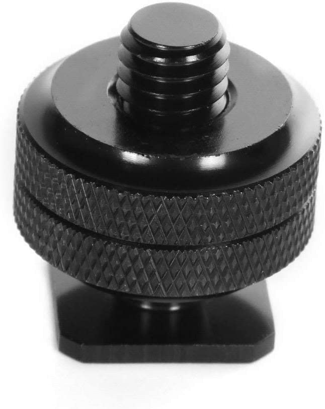 Slow Dolphin 1//4 Inch Hot Shoe Mount Adapter Tripod Screw for DSLR Camera Rig 4Packs