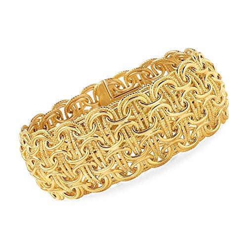 14kt Byzantine Design (Ross-Simons Italian 14kt Yellow Gold Woven Byzantine Bracelet)