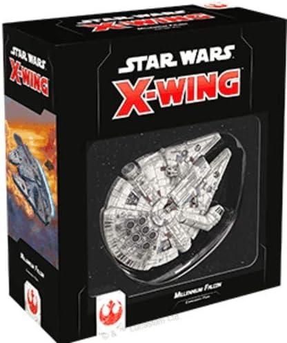 Star Wars X-Wing Miniatures Game Han Solos Millennium Falcon Miniature 2.0 Ready