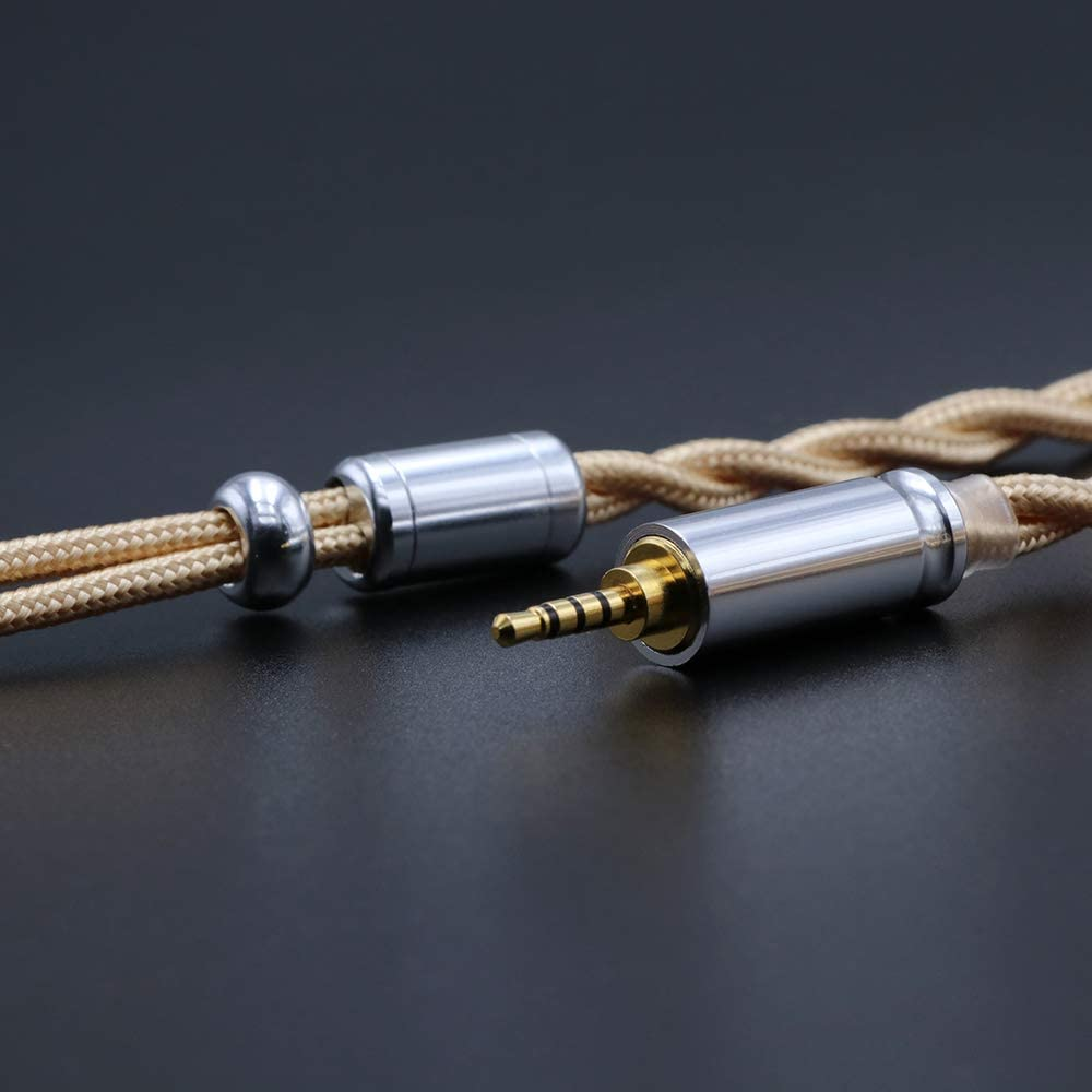Linsoul LSC08 6N OCC Single Crystal Copper HiFi Earphone Cable for TINHIFI T4 4.4mm, MMCX P1 Shuoer Tape etc