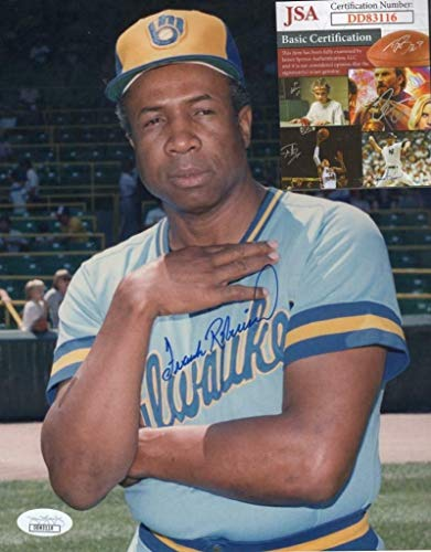 Frank Robinson Milwaukee Brewers Autographed Signed Memorabilia 8x10 Photo - JSA Authentic