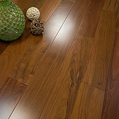 """Brazilian Walnut Prefinished Solid Wood Flooring (Clear Grade) 5"""" x 3/4"""" Samples at Discount Prices by Hurst Hardwoods"""