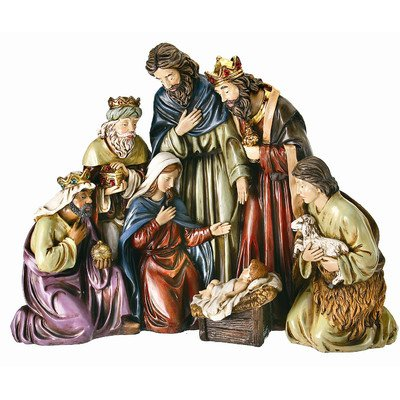 Curved Nativity Figurine