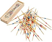Sunflower Day Pick Up Sticks Classic Game - 41 Piece Wooden Vintage Pickup Toys for Kids