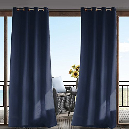 Cheap  Outdoor Blackout Curtain for Porch/Patio Waterproof Eyelet Top Grommet Drapery Panel Including..