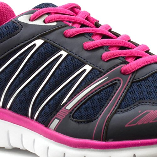 Lilley Womens Navy Lightweight Sneaker Blue