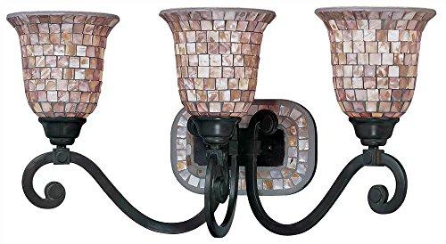 Pearl River 3-Light Vanity in Oil Rubbed Bronze Finish