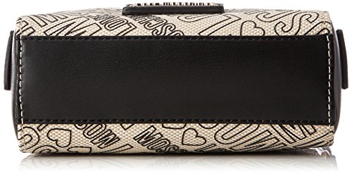 Love Natural black Nero baguette Natu Bolsos Nero 7x16x20 H cm Moschino Mujer Negro B pu Canvas x T Borsa logo Canvas 7prqXxpw6