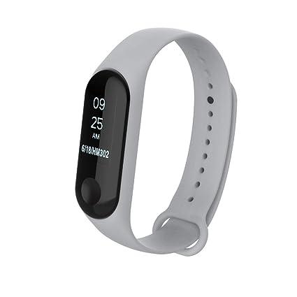 Reloj Xiaomi Band 3, Zolimx Nuevo Silicio Luminoso Suave Pulsera Correa de Muñeca Brazalete Reemplazo para Inteligente Xiaomi Mi Band 3 Smartwatch