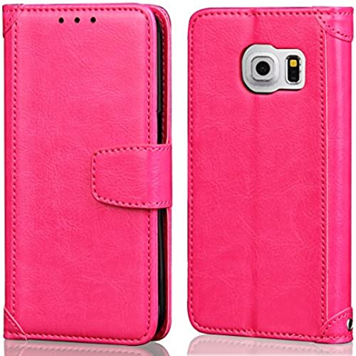 S7 Edge Case, APLUS Galaxy S7 Edge Wallet Case PU Leather Flip Wallet Case Cover for Samsung Galaxy S7 Edge (Rose Sales