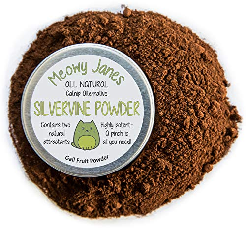 Meowy Janes Silvervine Powder for Cats - 20 Grams - All Natural Catnip Alternative