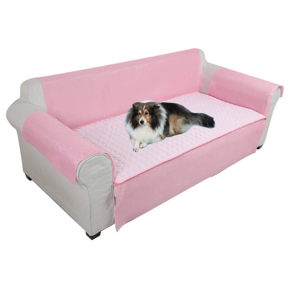 Pink M Pink M LianLe Pet Sofa Cushion Scratch Bite Dirt Resistant Pet Cool Mat Breathable Predective Sofa Cushion Set