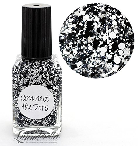 lynnderella-black-and-white-multi-glitter-nail-polish-connect-the-dots