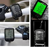 27 Function Back light Big LCD screen waterproof Bicycle odometer Computer by RSI (Black Wired )