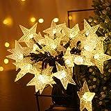 Grezea Solar Twinkle Star String Lights 50 LED 8