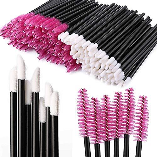 Tbestmax 200 Disposable Mascara Wand Spoolies and Lip Brushes, Lipstick Lipgloss Applicator for Eyebrow Eyelash…