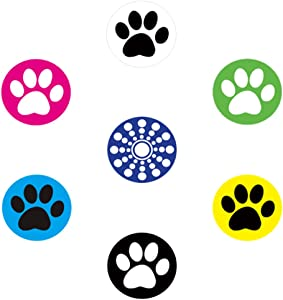 miButton AHB00118 miButton Home Button Sticker for iPod, iPhone, & iPad - Rocky's Paw - 1 Pack - Charm - Retail Packaging - Rocky's Paw