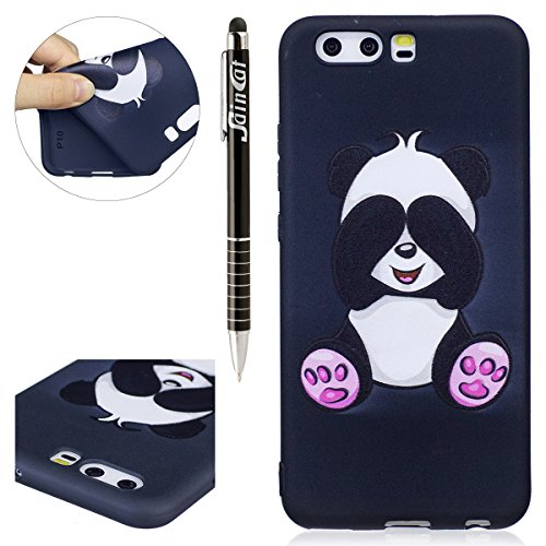 Funda Huawei P10,SainCat Moda Alta Calidad suave de Relieve Pintura TPU Silicona Suave Funda Carcasa Caso Parachoques Diseño pintado Patrón para Carcasas Huawei P10 TPU Silicona Flexible Candy Colors  Panda