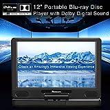 NAVISKAUTO 12 inch Portable Blu Ray DVD Player with