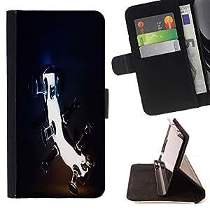 DEVIL CASE - FOR LG Nexus 5 D820 D821 - Blah - Style PU Leather Case Wallet Flip Stand Flap Closure Cover