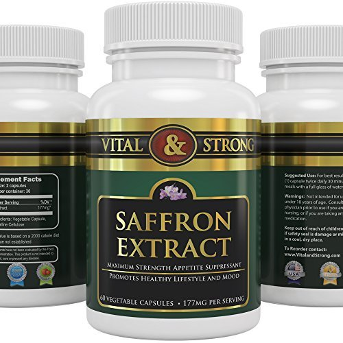 Vital and Strong Saffron Extract 60 Count by Vital & Strong
