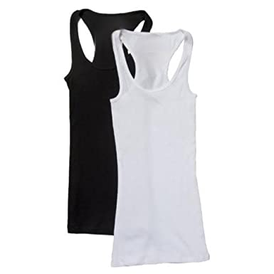 b934c02e25b07 Color  ClothingAve. Women s Racerback Cotton Blend Stretchy Knit Tank Top