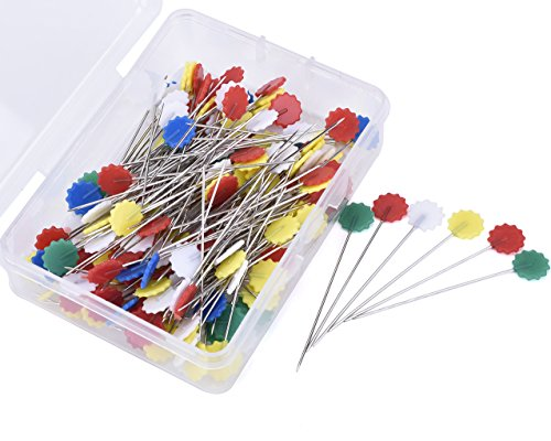 Discover Bargain JoyFamily 200 Pieces Flat Flower Head Pins Boxed(Mixed Color)