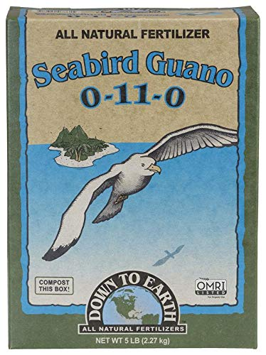 High Phosphorus Soil - Down To Earth High Phosphorus Seabird Guano 0-11-0, 5 lb