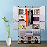 Nex Cube Wardrobe, Armoire, Storage Cube With Doors Multi Use Cabinet Cube Shoe Rack Bookcase Homeuse(EAT0119)