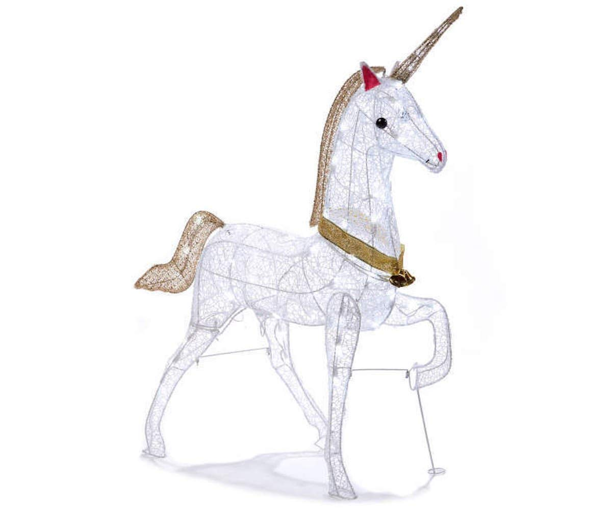 Morning Star Market Magical Christmas LED LIGHTED UNICORN Indoor/Outdoor Yard Decoration Light Lawn Ornament Sculpture