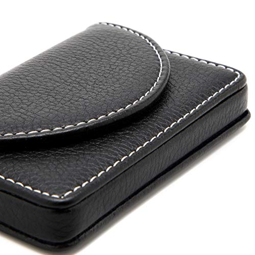 16834f0c9683 MaxGear Leather Business Card Holder Case with Magnetic Shut - Import It All