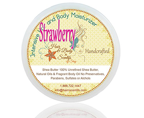 Handmade Butter Whipped Shea (Whipped Scented Shea Butter - Strawberry)